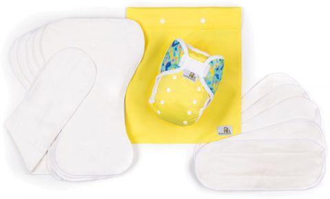 BAMBOOLIK AI2 denní testovací sada kojenec Žlutá + Moře