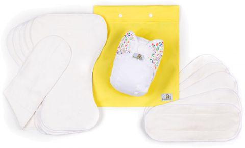 BAMBOOLIK AI2 denní testovací sada kojenec Bílá + Louka