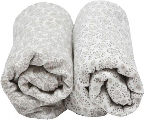 MOTHERHOOD Premium Mušelínové bavlněné pleny 100x120 (2 ks) - šedé rybičky