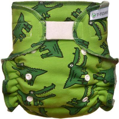T-TOMI Kalhotková plena - přebalovací set suchý zip, crocodiles