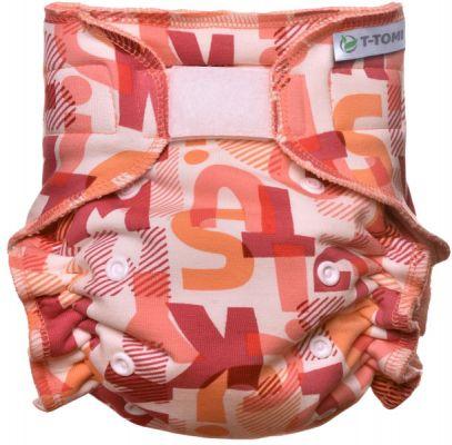 T-TOMI Kalhotková plena - přebalovací set suchý zip, pink Alphabet