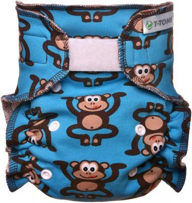 T-TOMI Kalhotková plena - přebalovací set suchý zip, monkies