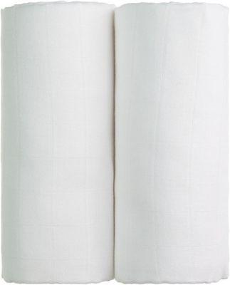 T-TOMI Látkové TETRA osušky 100 x 90, sada 2 ks, bílá