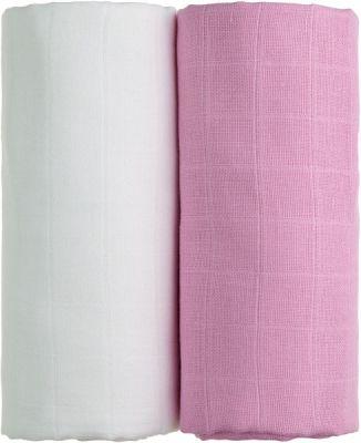 T-TOMI Látkové TETRA osušky 100 x 90, sada 2 ks, bílá + růžová