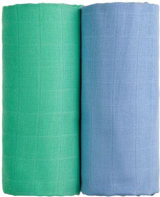 T-TOMI Látkové TETRA osušky 100 x 90,  sada 2 ks, modrá + zelená