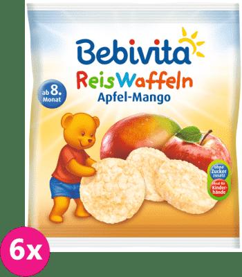 6x BEBIVITA Rýžové oplatky Jablko-mango  35 g