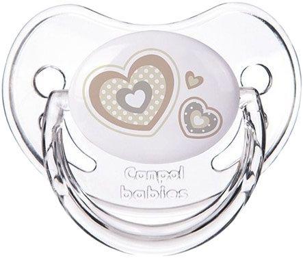 CANPOL BABIES Dudlík silikonový anatomický 6-18m Newborn Baby béžová
