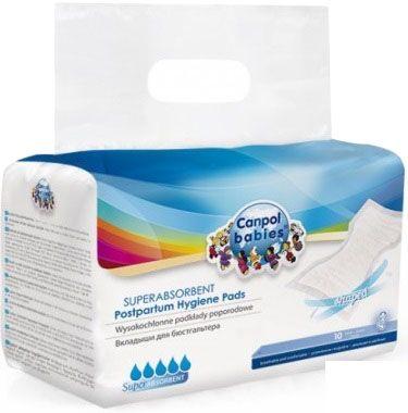 CANPOL BABIES Vysoce absorpční tvarované vložky po porodu noční a denní 20  ks 997433d5cf