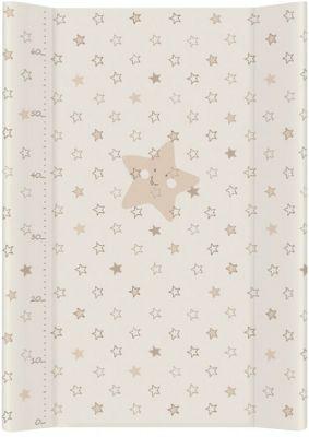 CEBA Přebalovací podložka měkká 70 cm Hvězdy – béžová