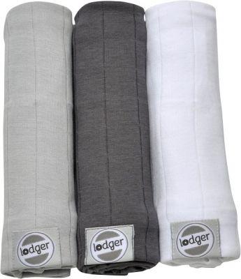 LODGER Multifunkční osuška Swaddler Solid 3 ks (70x70 cm) Mist/Carbon/White