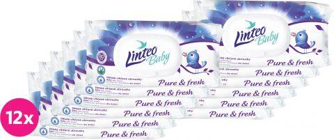 12x LINTEO Baby vlhčené ubrousky Pure & Fresh 80 ks