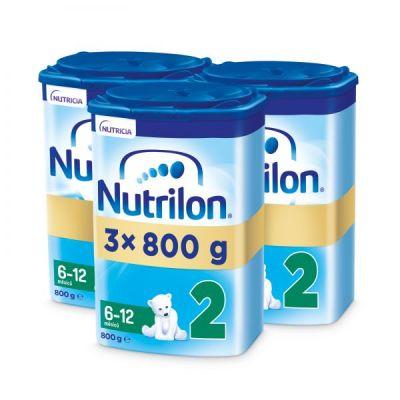 3x NUTRILON 2 Pokračovací kojenecké mléko 800 g, 6+