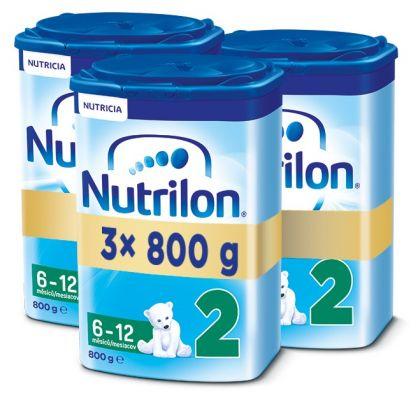 3x NUTRILON 2 (800g) - dojčenské mlieko