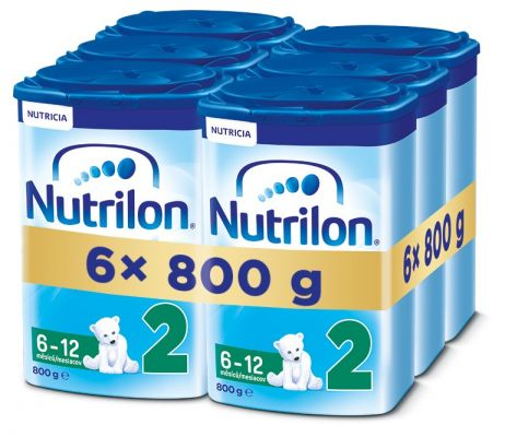 6x NUTRILON 2 (800g) - dojčenské mlieko