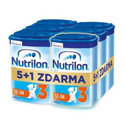 6x NUTRILON 3 Batolecí mléko 800 g, 12+