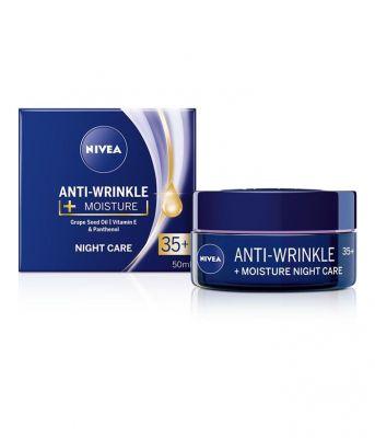 NIVEA Hydratační noční krém proti vráskám 35+, 50 ml