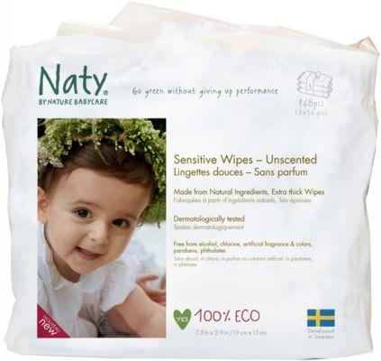 NATY NATURE BABYCARE Dětské vlhčené ubrousky 3x56 ks