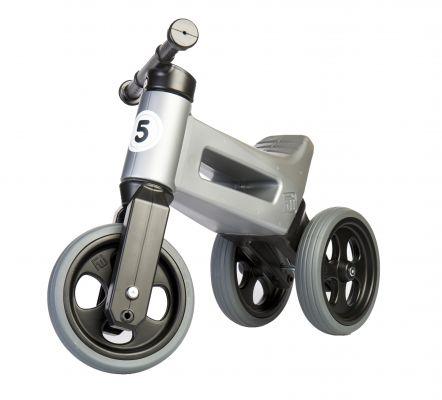 TEDDIES Odrážedlo FUNNY WHEELS NEW SPORT 2v1, nosnost 50 kg 18m+, šedé