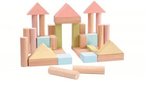 PLAN TOYS Stavebné kocky 40 ks (pastelové)