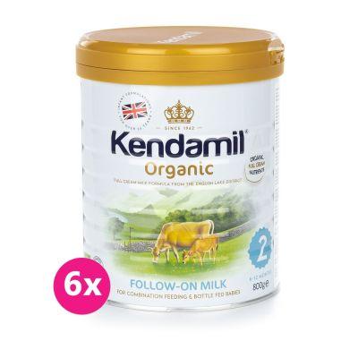 6x KENDAMIL 100% BIO/organické plnotučné pokračovací mléko 2 (800g)