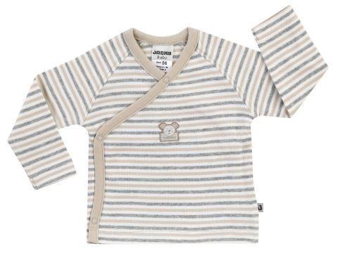 JACKY Zavinovací triko dlouhý rukáv NOS BEAR pruh/béžová - vel. 50