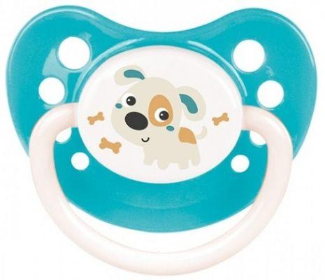 CANPOL BABIES Dudlík silikonový symetrický 0-6m Bunny & Company – tyrkysový