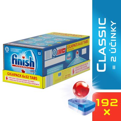 FINISH Classic GIGAPACK 192 ks – tablety do myčky