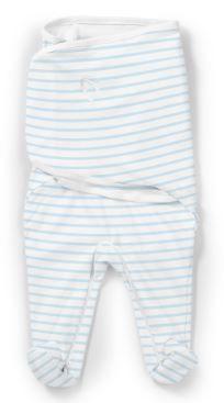 SUMMER INFANT Zavinovačka SwaddleMe Footsie – modrý proužek
