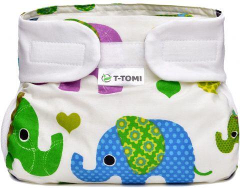T-TOMI Abdukční kalhotky (3-6 kg) – green elephants