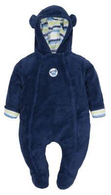 G-MINI Overal podšitý s kapucí chloupek chlapec Opice 68 cm