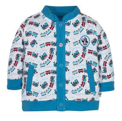 G-MINI Kabátek oboustranný chlapec KRTEK vláček 62 cm