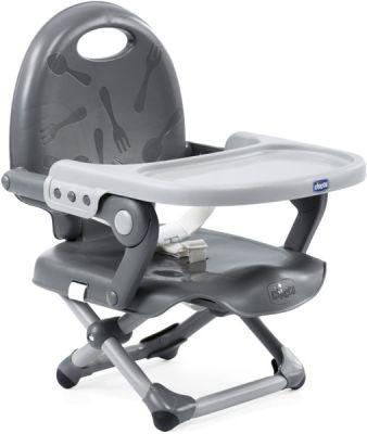 CHICCO Podsedák na jídelní židli přenosný Pocket Snack – Dark Grey