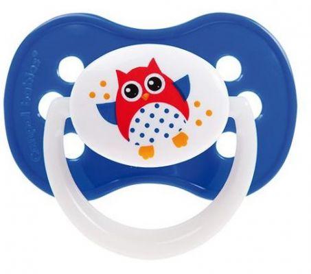 CANPOL BABIES C - Dudlík silikonový symetrický 18m+ Sova – tmavě modrý