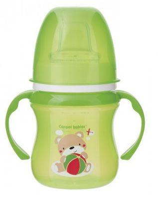 CANPOL BABIES Tréninkový hrníček Sweet Fun 120 ml – zelený