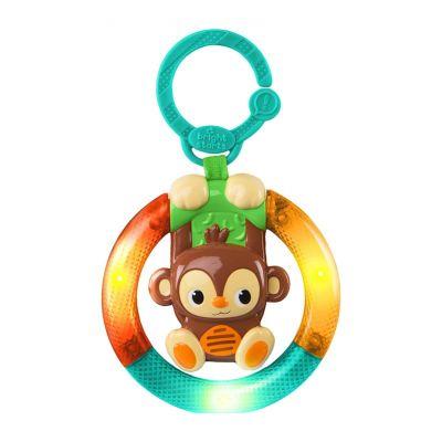BRIGHT STARTS Hračka hudební, svítící na C kroužku Shake&Glow opička 3 m+