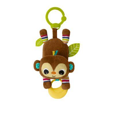 BRIGHT STARTS Hračka na C kroužku Banana tantrum opička 0 m+