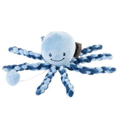 NATTOU Prvá hračka bábätka hrajúca chobotnička PIU PIU Lapidou navy blue - light