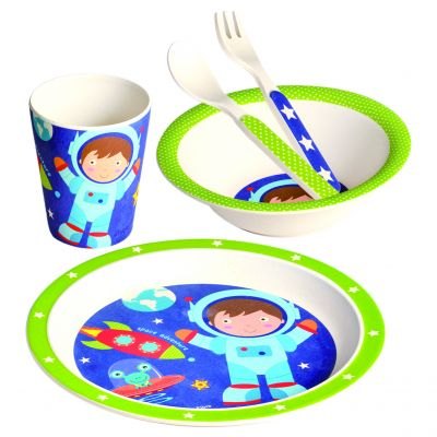 BINO Bambusové nádobí Set 5 dílů, Kosmonaut