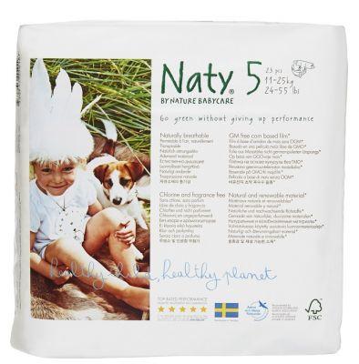 NATY NATURE BABYCARE 5 JUNIOR, 23 ks (11-25 kg) - jednorázové pleny