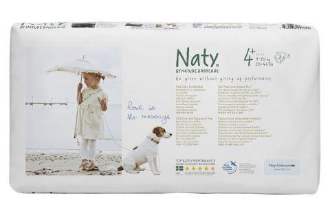 NATY NATURE BABYCARE 4+ MAXI+, 44 ks (9 - 20 kg) ECONOMY PACK - jednorázové pleny