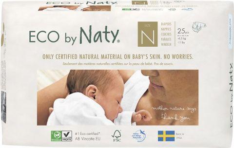 NATY NATURE BABYCARE 0 NEWBORN, 25 szt. (1-4,5 kg) - pieluchy jednorazowe