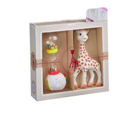 8b10fa9600c7 VULLI Dárkový set Žirafa Sophie + měkké marakasy