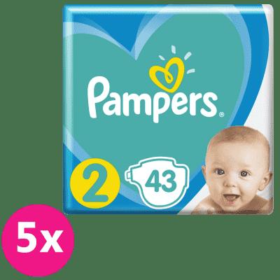 PAMPERS New Baby-Dry 2 (4-8 kg) 215 ks MĚSÍČNÍ ZÁSOBA – jednorázové pleny