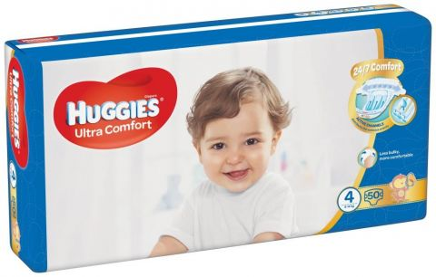 HUGGIES® Ultra Comfort Jumbo 4 (8-14 kg) 50 ks