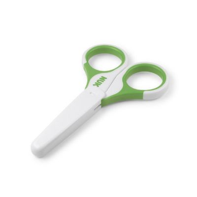 NUK Nożyczki dla niemowląt z osłonką, zielony