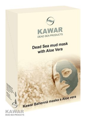 KAWAR Pleťová maska s aloe vera a minerály z Mrtvého moře 4 x 75 g.