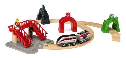 BRIO Vláčkodráha SMART TECH s chytrým vlakem a aktivními tunely