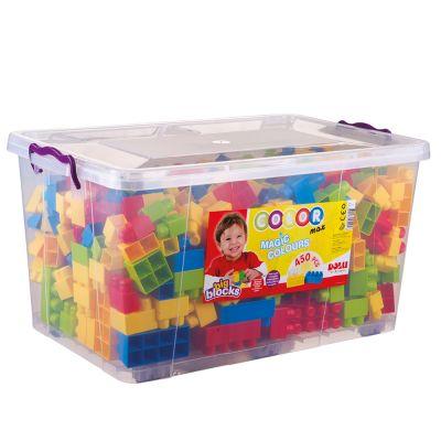 DOLU Velké kostky v plastovém boxu, 450 ks