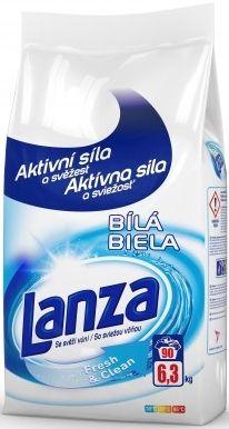 LANZA Fresh&Clean Bílá 6,3 kg – prací prášek