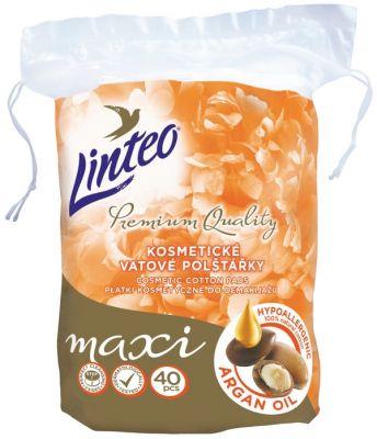 LINTEO Premium Vatové polštářky maxi 40 ks Argan oil